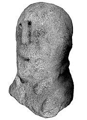 Busto de guerreiro de Anllo, foto de M. G.